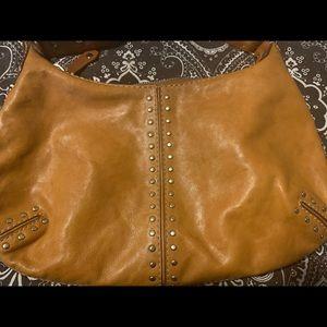 Michael Kors studded leather hobo shoulder bag